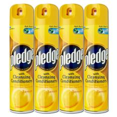 Pledge Lemon Furniture Polish 4 Pack (300ml Per Pack) By Mega Mart.