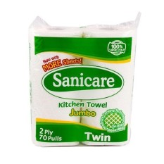 Sanicare Jumbo Kitchen Towel 2 Rolls By Ultra Mart.