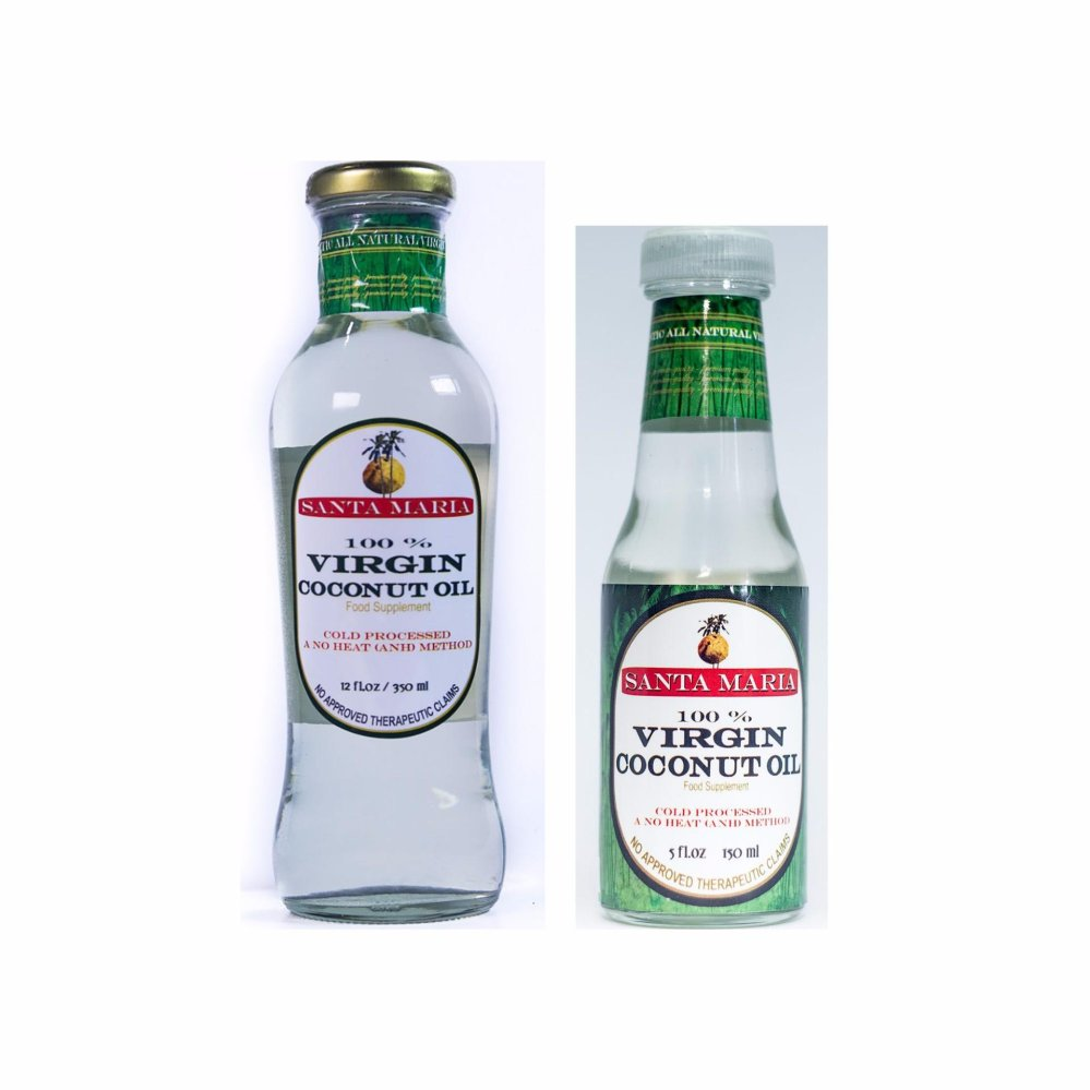 Santa Maria Raw Virgin Coconut Oil 350ml and 150ml - thumbnail