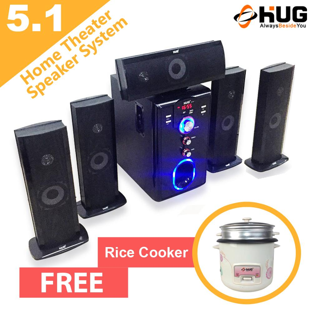 Hug H28-651 Bluetooth Home Theater Subwoofer Speaker With Free Rice Cooker By Hug-Electronics.