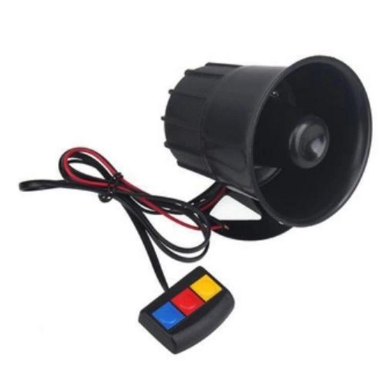 Car Motorcycle Siren Police Horn WANGWANG 3 tone Switch Control