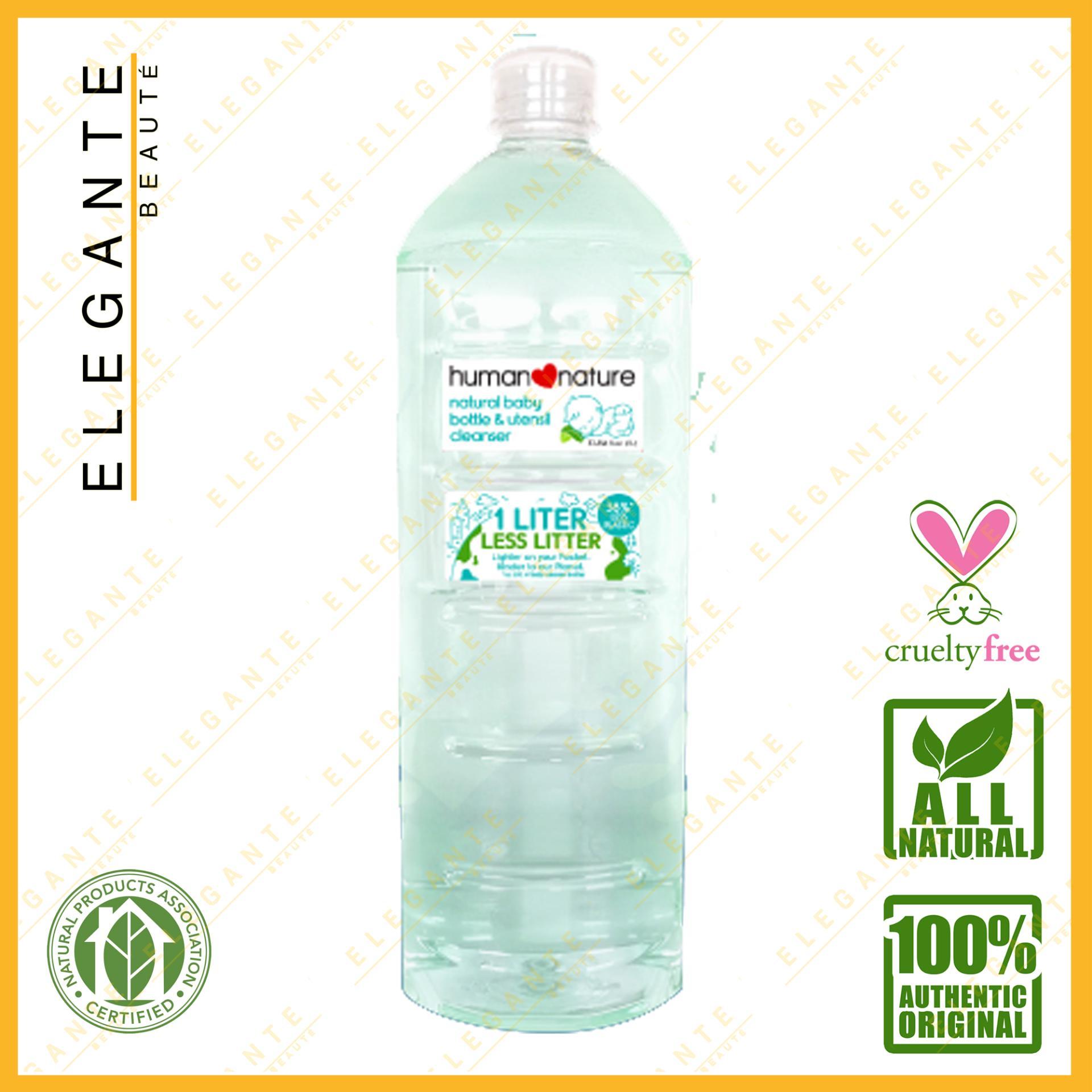 Elegante Beaute Human Nature Natural Baby Bottle And Utensil Cleaner - 1 Liter By Elegante Beaute.