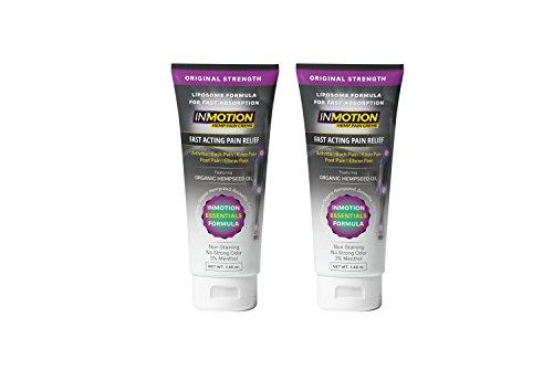 Inmotion Pain Relief Cream 1.65 Ounce Tube 2 Pack - Fast Acting Topical Analgesic With Boswellia Serrata And Cetyl Myristoleate For Arthritis, Tendinitis, Back, Knee, Muscle, Foot, And Elbow Pain By Galleon.ph.