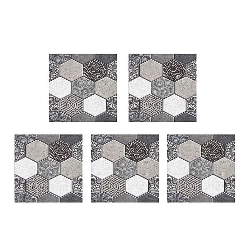 Waterproof Pvc Subway Kitchen Backsplash Tile Peel And Stick Self Adhesive Wallpaper Diy Bathroom Vinyl Wall Stickers Home Decor 5Pcs