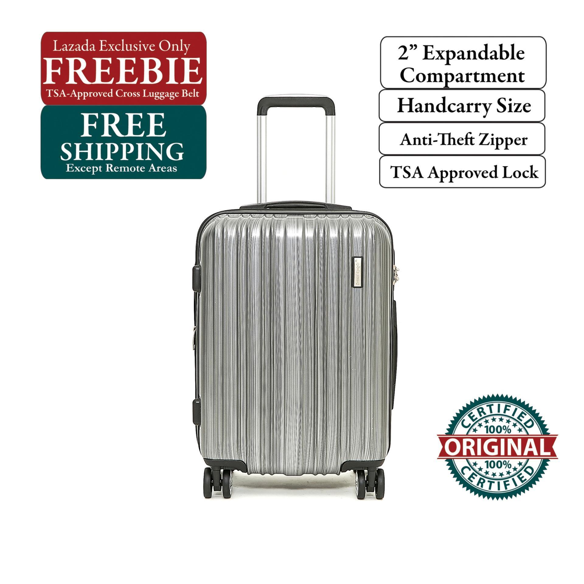 20678e7f1 British Knight BSQ601ZTE Silver Small (20 Inch) Expandable Luggage with TSA  Lock, Anti