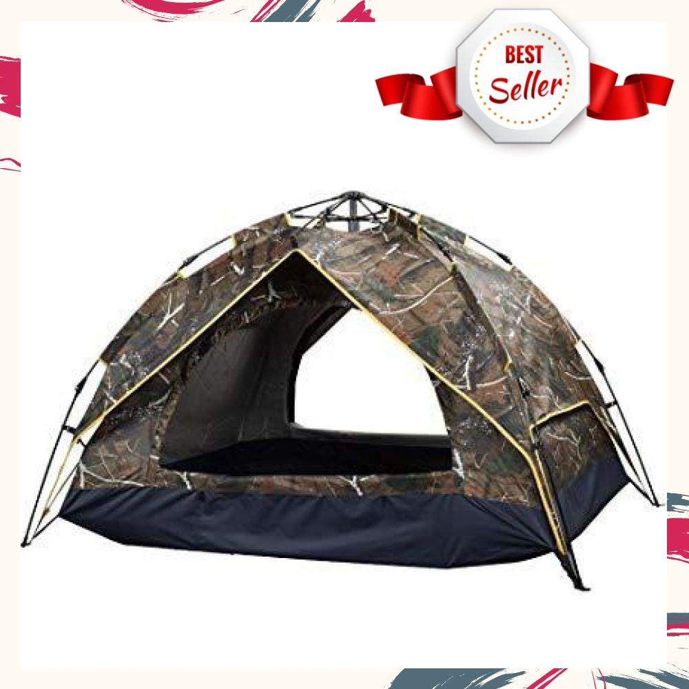 Waterproof Automatic Outdoor 4 Person Double Layer Instant Camping Family  Tent (Comouflage)