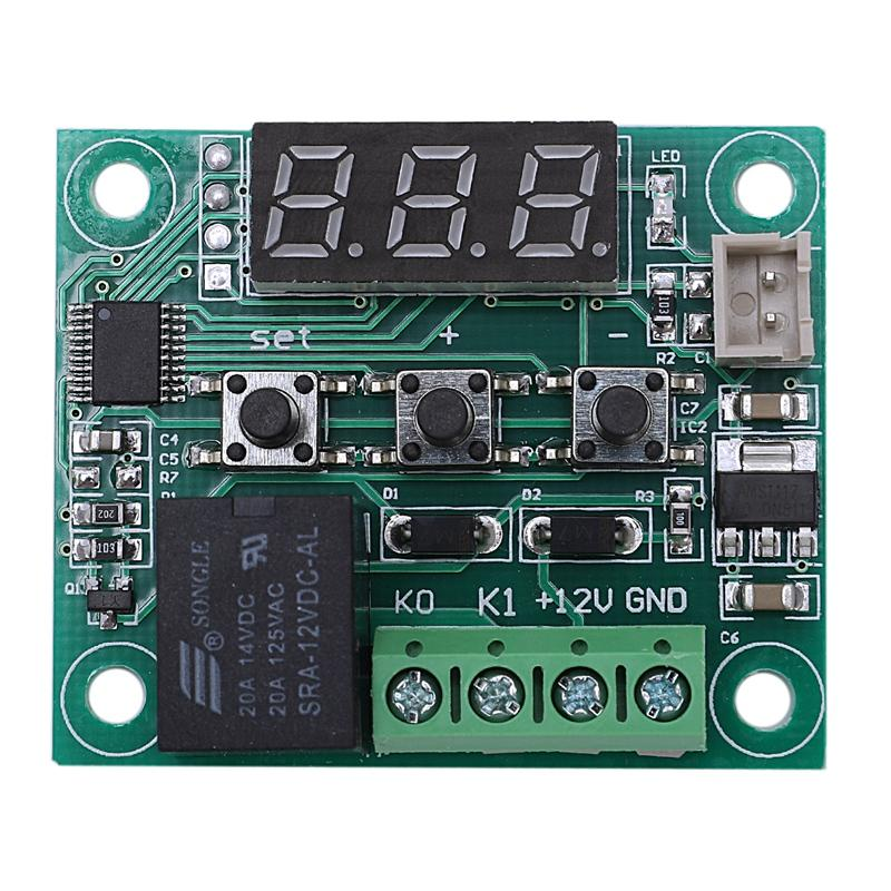 2pcs 12V DC Digital Temperature Controller Board Micro-Digital Thermostat -50-110°C Electronic Temperature Temp Control Module Switch With 10A One-Channel Relay And Waterproof