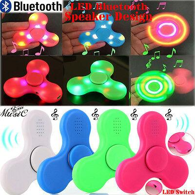 Bluetooth Spinner Fidget Hand Spinner Led Light Bluetooth Speaker Music Focus Toy By Suanti05.
