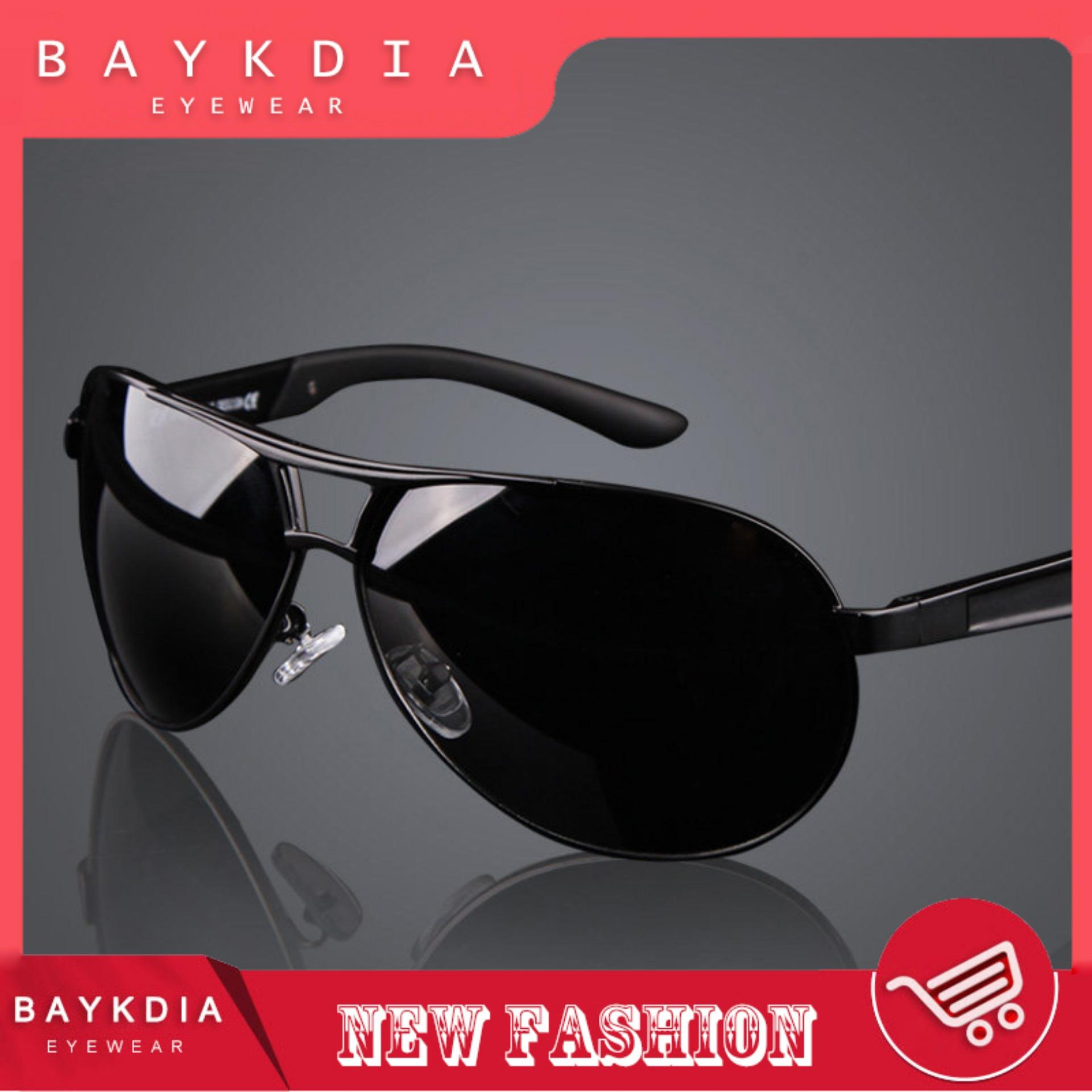 791e802b9 RAYKDIA Pilot Frame Men Fashion Glasses Brand Designer Retro Vintage  Polarized Sunglasses UV400 8005 Black grey