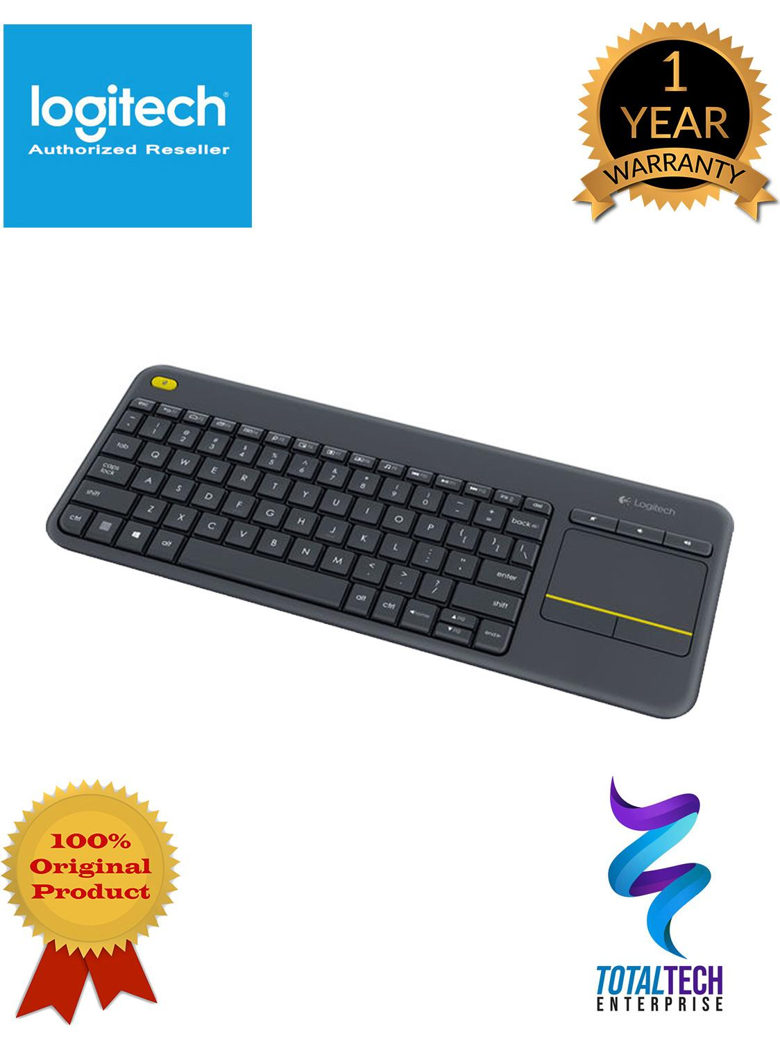 Logitech K400 Plus Wireless Touch TV Keyboard with Easy Media Control and  Built-in Touchpad