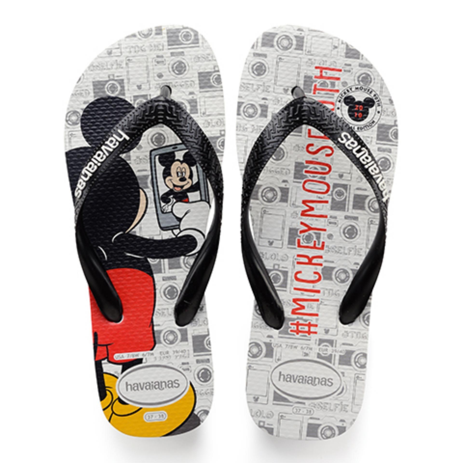 73f3832eefdb0 Havaianas Mickey 90th Anniversary - 2010 Flip Flops Unisex (Black Black) -  356