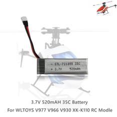 Bộ Phận Pin 3.7V 520MAH 35C Cho Model RC Của WLTOYS V977 V966 V930 XK-K110