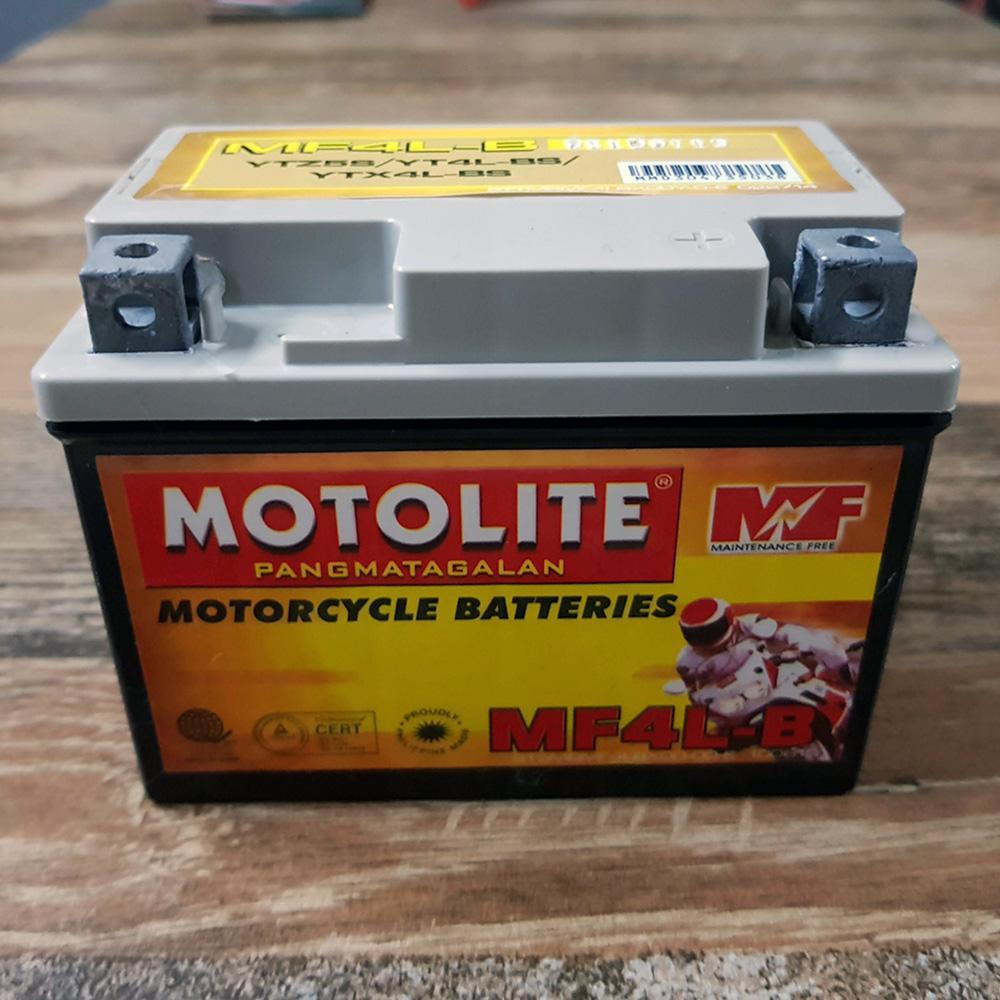 Motolite Mf4l-B Maintenance Free Motorcycle Battery (ytz5s Yt4l-Bs Ytx4l-Bs) By Shopping Circuit.