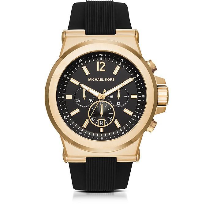 99101370b1ad Michael Kors Men s MK8445 Dylan Chronograph Black Dial Black Silicone Watch