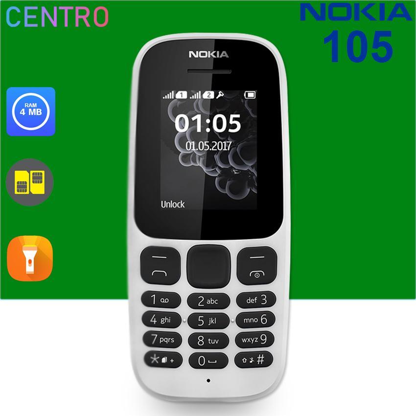 Nokia 105 2017 Dual SIM (White)