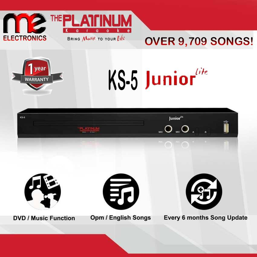 The Platinum Kool Sound Junior Lite KS-5 DVD Karaoke Player (Black) With  9,329 Songs