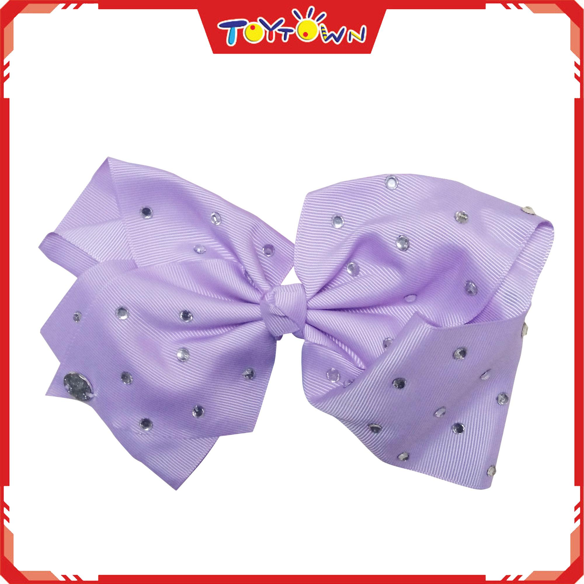 Jojo Siwa Signature All Over Rhinestones Bow-Lilac By Toytown 2