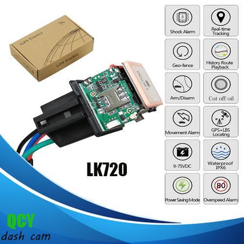 LK720 Relay-Shape GPS GSM GPRS Tracker LK720 Car vehicle Cut and Resume Oil  Remotely LK720 Anti-lost Locating Tracker gps