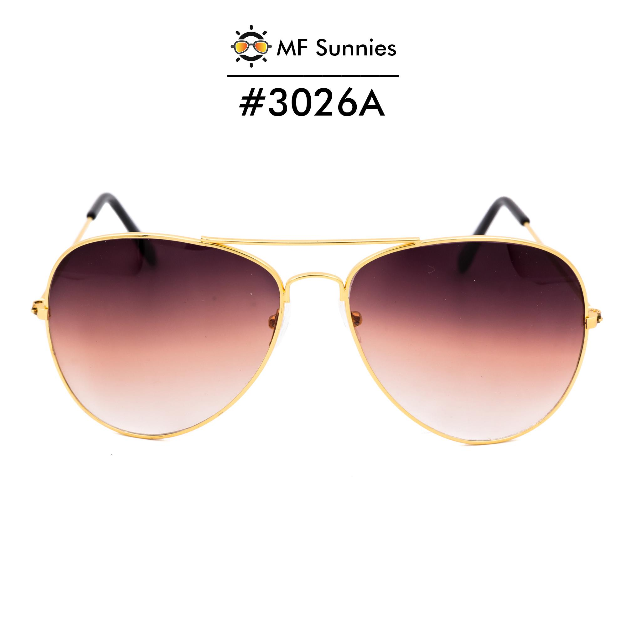 6bf76ce3cc4 MFSunnies Sunnies Classic Aviator Gradient lens Metal Frame Fashion eyewear  Gradient Brown  3026A