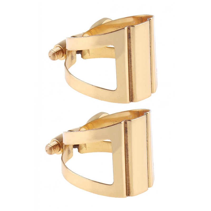 2pcs Saxophone Mouthpiece Ligature Gold -Plated Ligature Fastener For Rubber Mouthpiece Alto & Tener.