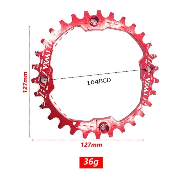 Mua VXM Bicycle Chainwheel Crank 30T 104BCD Cycling Round MTB Bike Chainring Circle Crankset Plate Sprocket