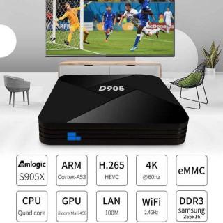 Thiết Bị Video XZCVXVC Giải Trí Gia Đình 1GB + 8GB, Hỗ Trợ Trình Phát Đa Phương Tiện 3D HDMI D905 Hộp TV 2.4G Đầu Thu TV Box Thông Minh thumbnail