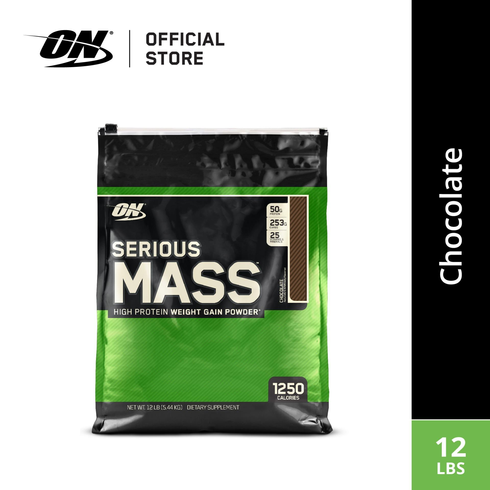 Optimum Nutrition Serious Mass Gainer 12 lbs - Chocolate