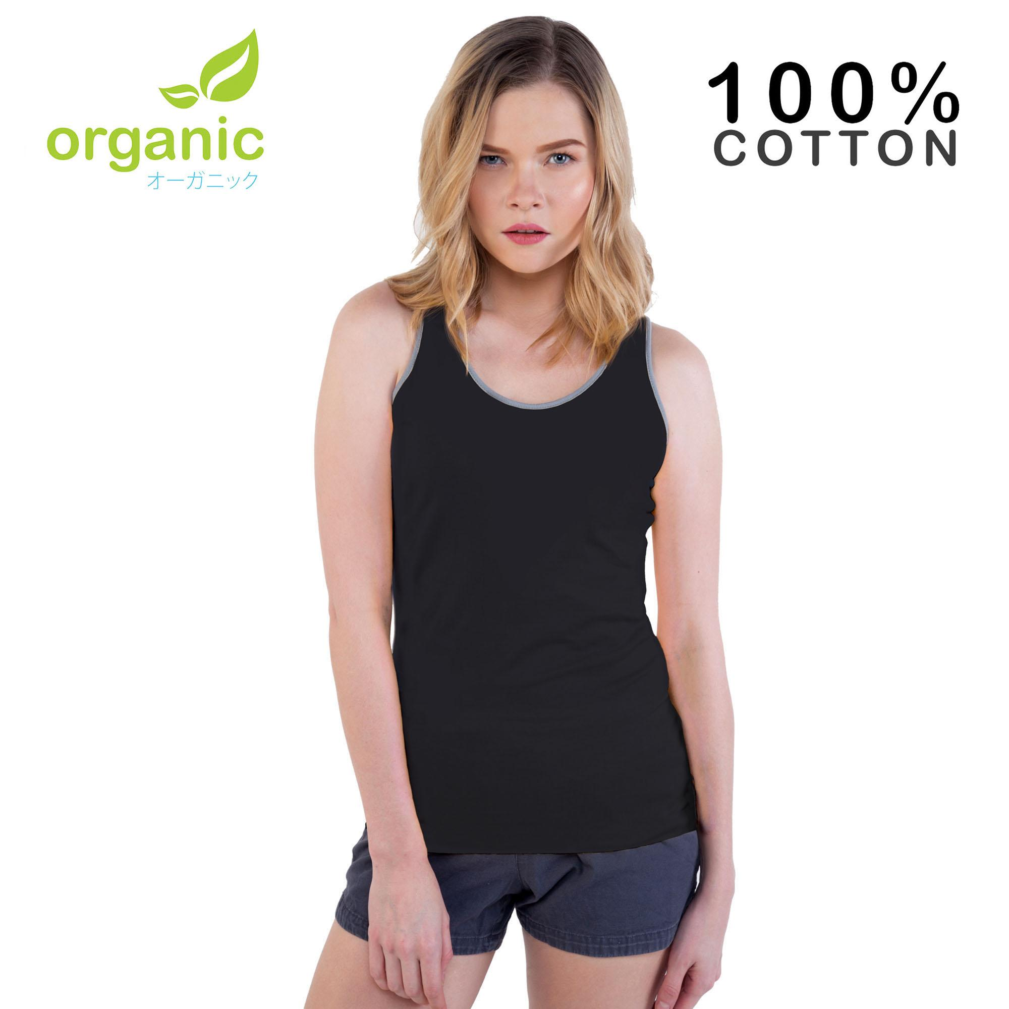 dc065412fa20 Organic Ladies 100% Cotton Tank Top Sando Racerback Fashionable Tees t  shirt tshirt shirts tshirts
