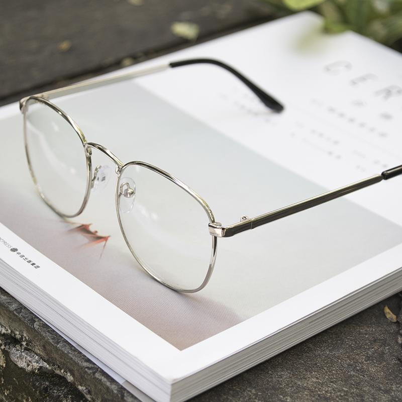3cd34592be Online Celebrity Retro Metal Glasses Frame Men And Women Korean Style  Fashion round Frame Literature And