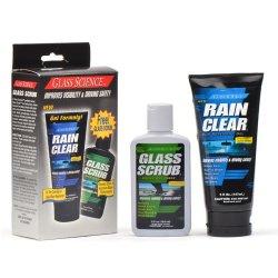 Glass Science Rain Clear and Glass Scrub