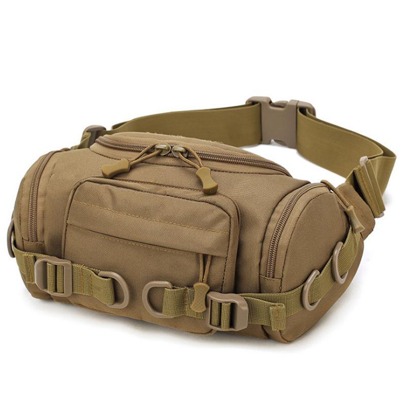 Multi-Function Waist Pack Wear-Resistant Canvas Bag Men Chest Bags