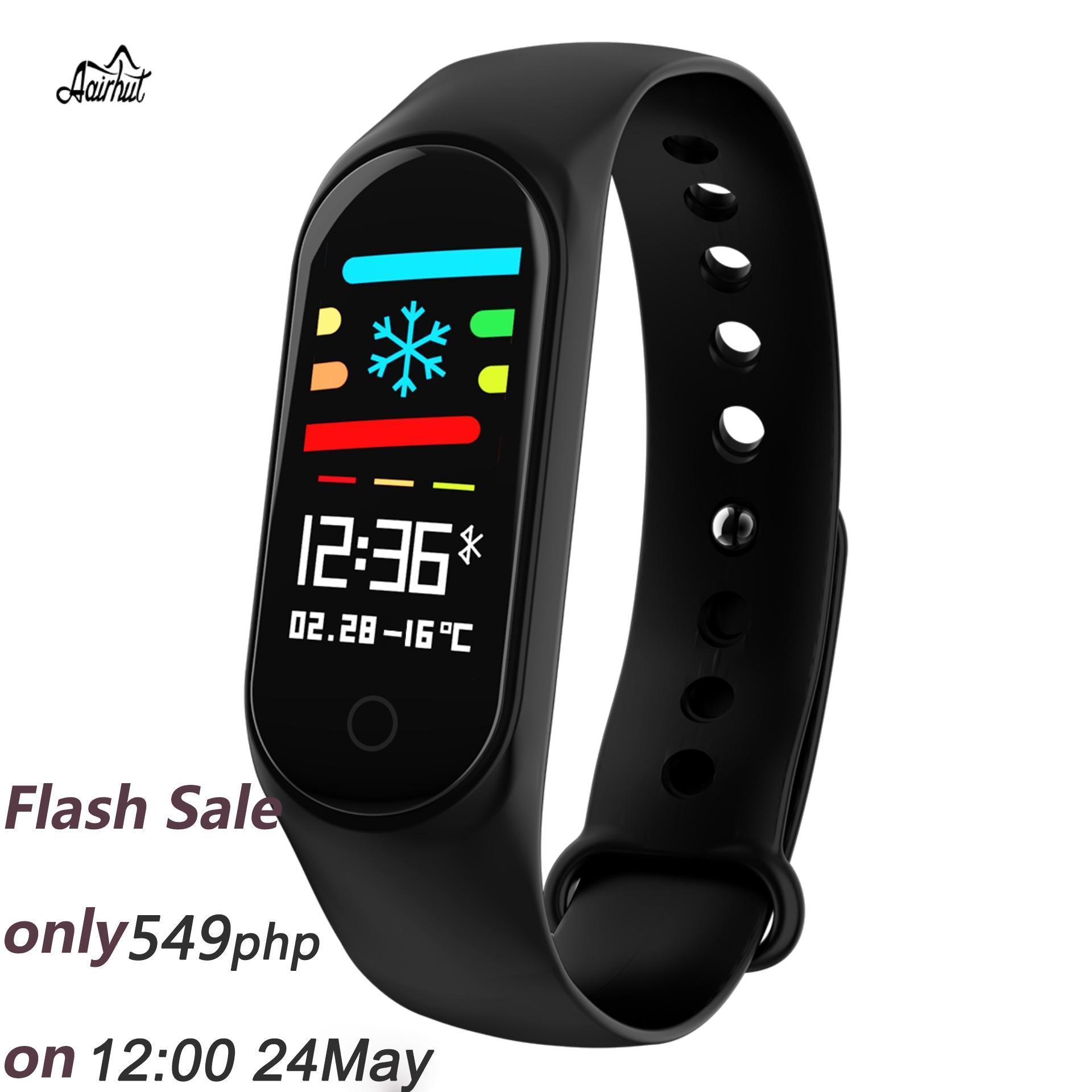 67085e75cf9b Aairhut M3s Smart Bracelet IP67 Waterproof Color Screen Smart Watches Blood  Pressure Heart Rate Monitor