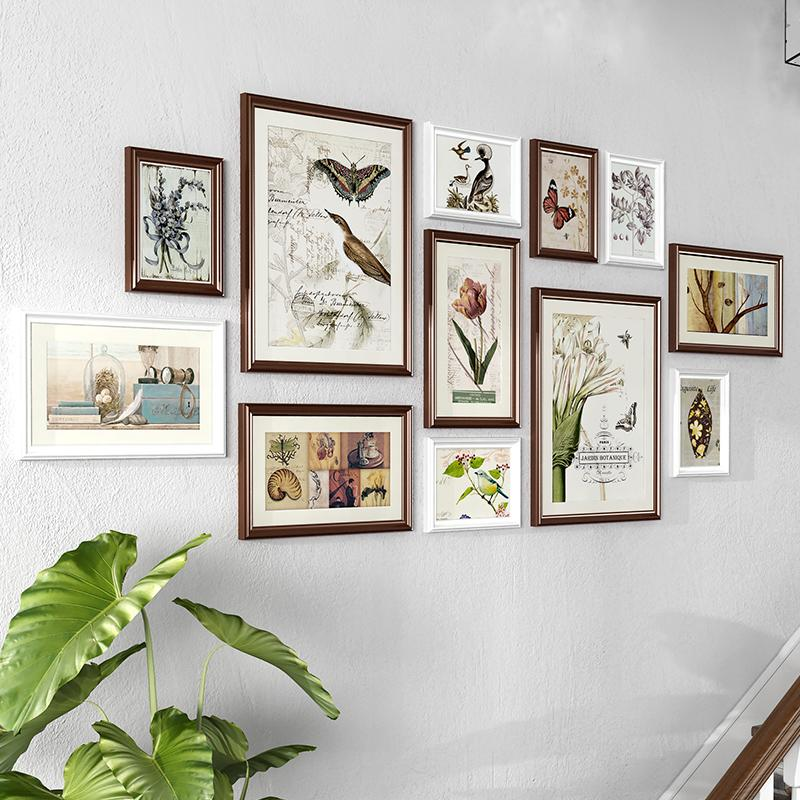 Living Room Wall Decoration-Free Punched Xiang Kuang Qiang Photo Frame Wall on the Combination Creative Chinese Style Company Wall