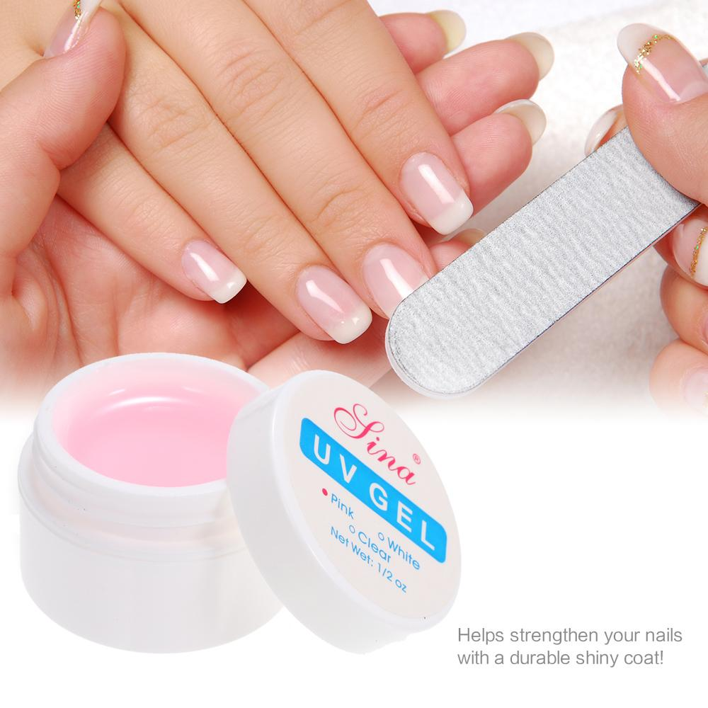 (Free Shipping Fee)3Pcs New Professional Builder Extension Tips UV Gel Phototherapy Manicure Nail Art Gel Polish Tool Pink White Clear Color - intl Philippines