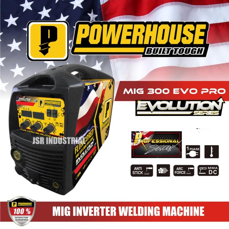 Powerhouse Mig 300 Evo Pro Gas Gasless Migweld Flux Cored Dual Mig Inverter Arc Welding Machine 300 Amperes Lazada Ph
