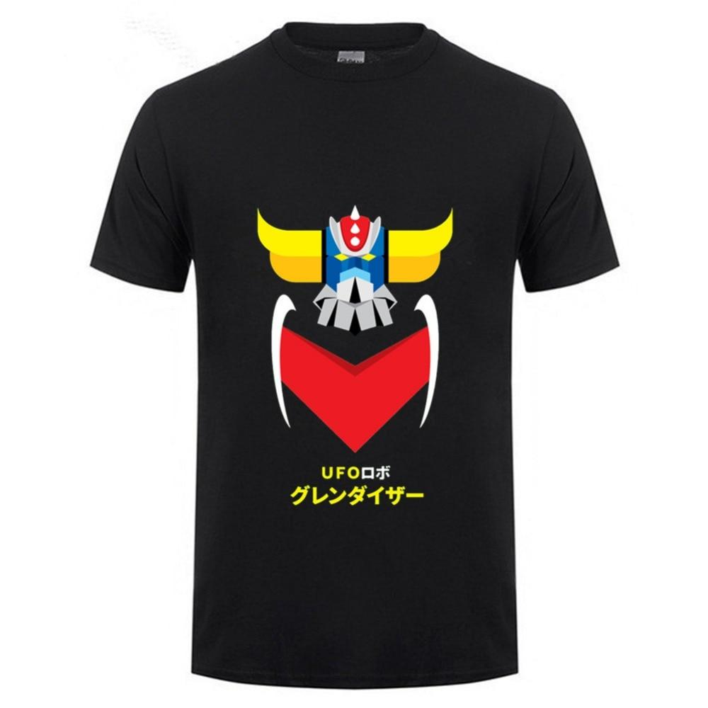 a8dda5cb76b Japanese style Cool Anime UFO Robot Grendizer T Shirts men Homme Summer  O-Neck T