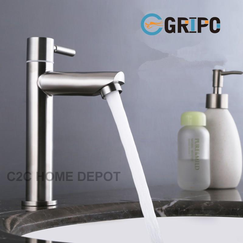 Gripo Sus304 Stainless Lavatory Faucet By C2c Home Depot.