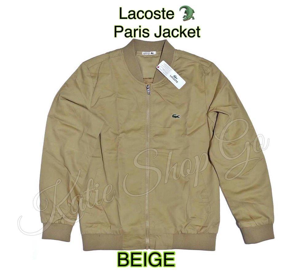 cb3df28c ORIGINAL LACOSTE JACKET - LACOSTE JACKET - LACOSTE PARIS JACKET - KHAKI  BEIGE - LACOSTE JACKET FOR MEN - LACOSTE MENS JACKET - LACOSTE UNISEX  JACKET - ...
