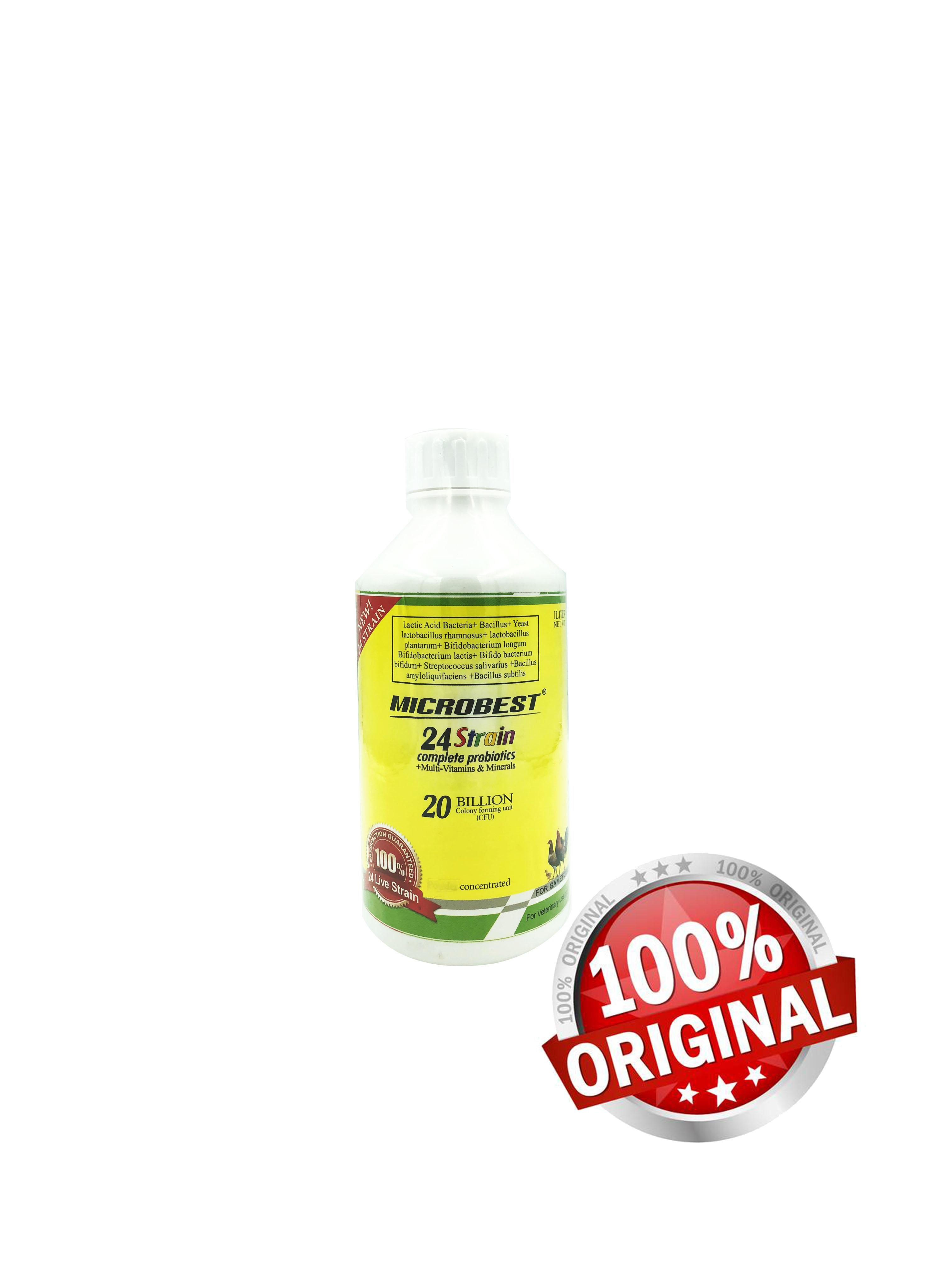 SMALL NJE Microbest 120ml 24 Strains Probiotic with Vitamins for Gamefowl  Chicks and Roosters