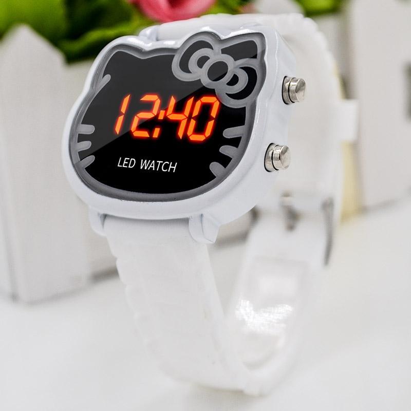 22fb25feb Cartoon Watch Led Digital Wrist Cute Watches Children Ladies Girl's Clock