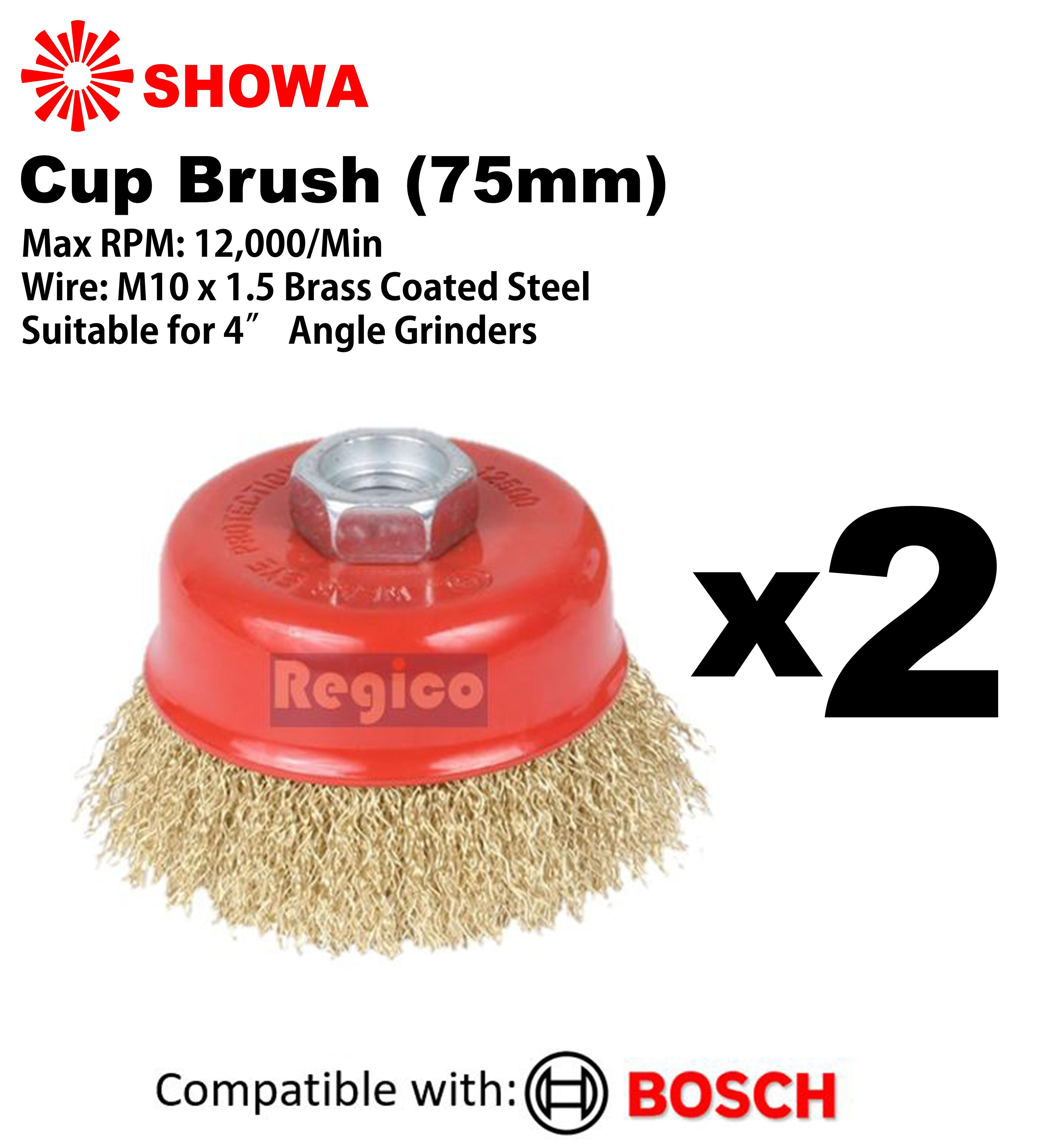 """12 PC 75mm Twist knot rotary steel wire cup brush 3/"""" Inch cup brush Twisted"""