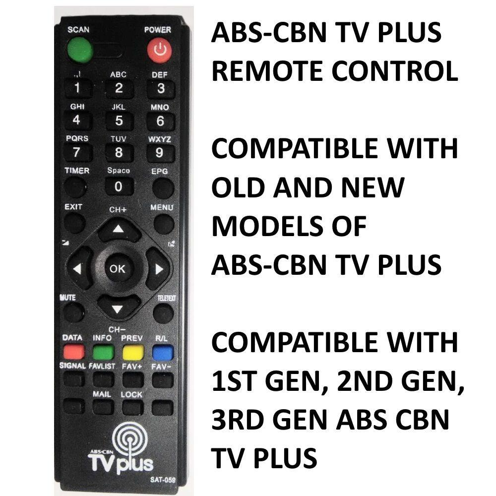 original ABS CBN TV Plus TVPLUS Remote Control Compatible with 1st Gen, 2nd  Gen, 3rd Gen TV Plus free battery