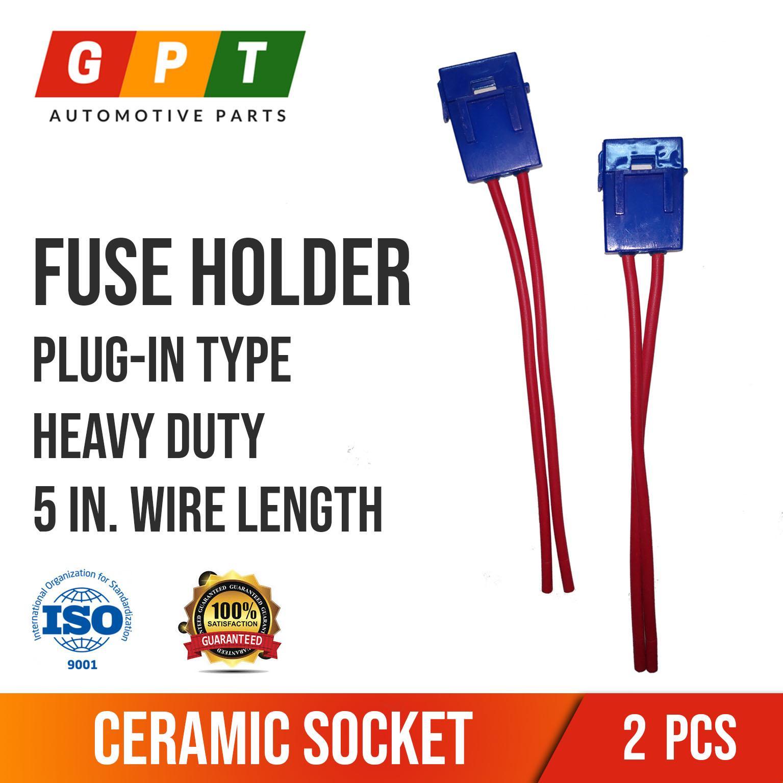 2 Pcs. Fuse Holder Plug-in Type (Ceramic Socket) Fastener For Rv Fuse Box on
