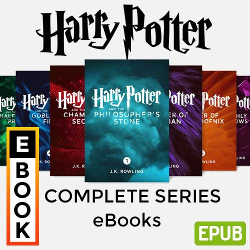 Harry Potter Book Set (1-7) Complete Series - Digital Ebook By Audiobooks.