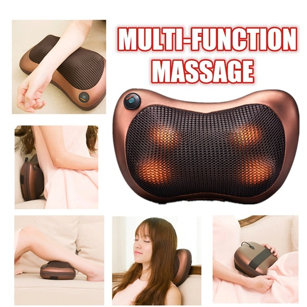 Multifunction Home Car Electric Body Massager Pillow Infrared Acupressure  Shiatsu Neck Pain Relief Massage Machine Tool | Lazada PH