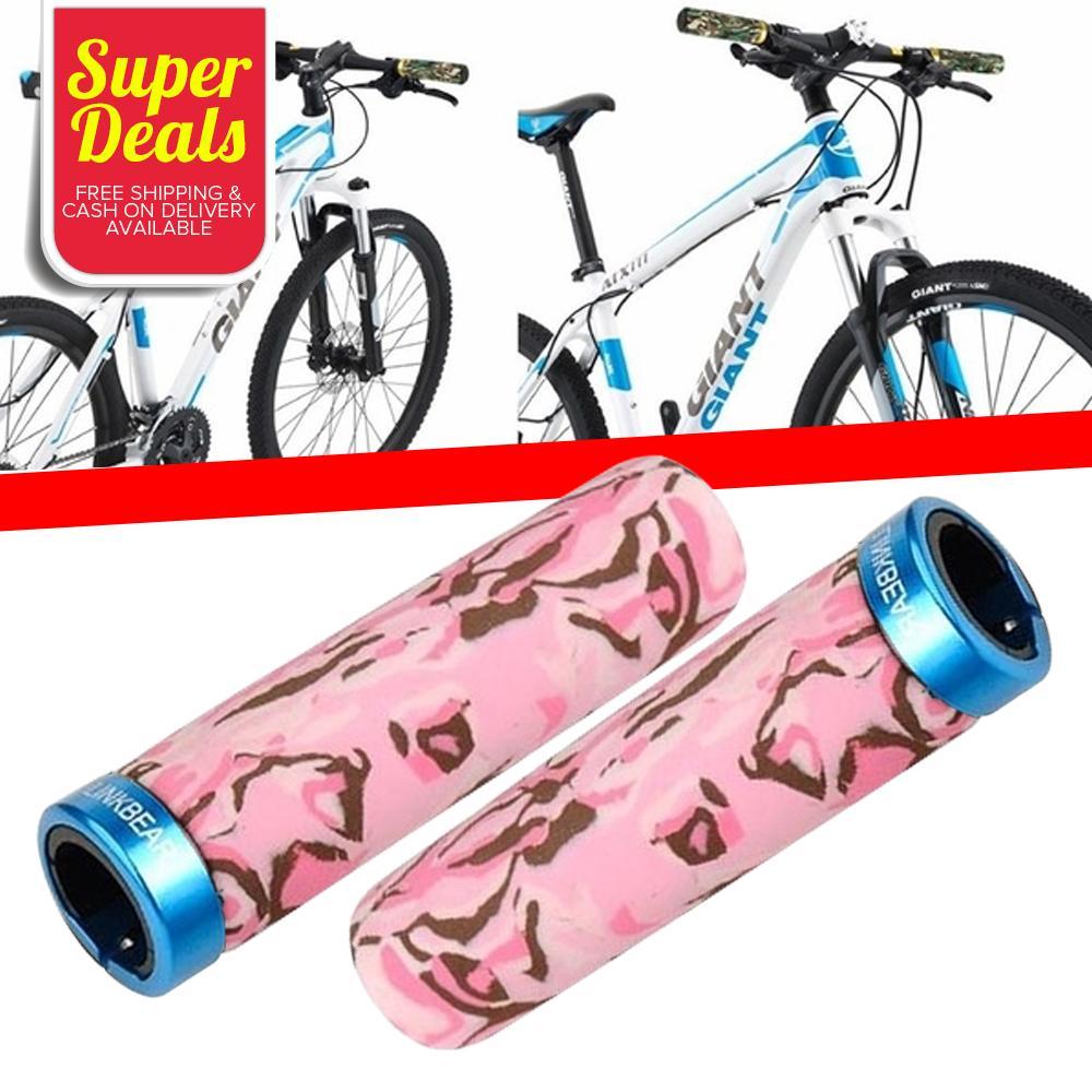 MTB Mountain Bike Bicycle Handlebar Grip Anti-Skid Lock-on Cover Grips 1 Pair