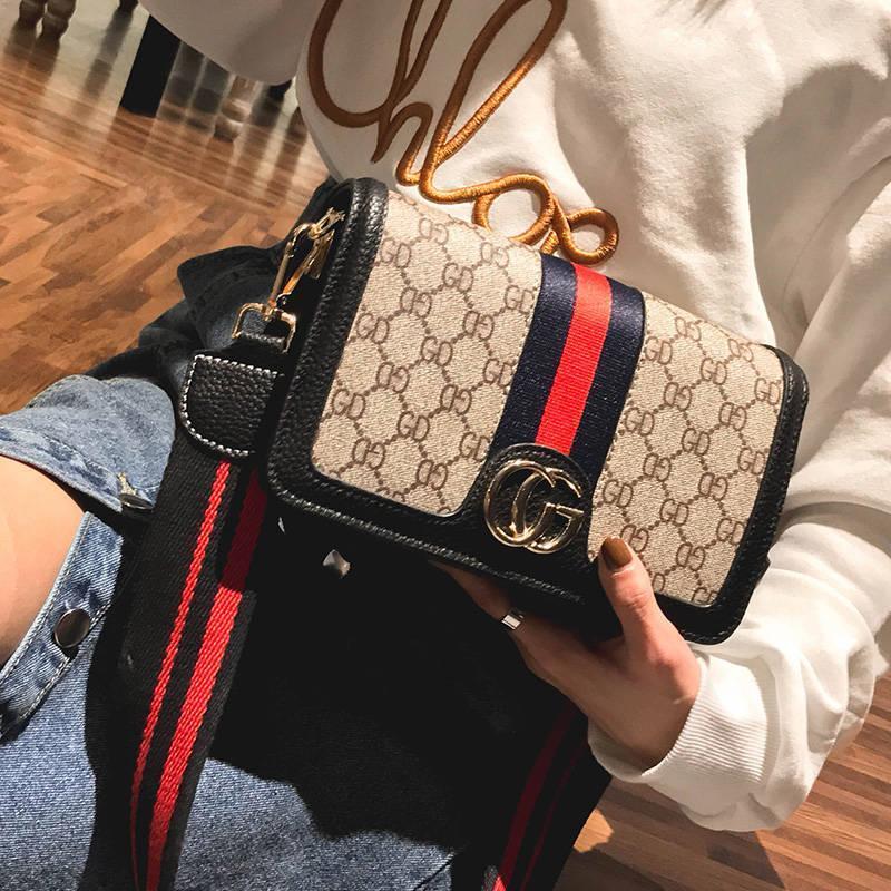 UNIKEE_GUCCI_OEM_Bag_Woman Fashion Casual Leather Backpack Handbag Woman Beg Wanita_Sling Bag Women Printing Wallet Storage Bag