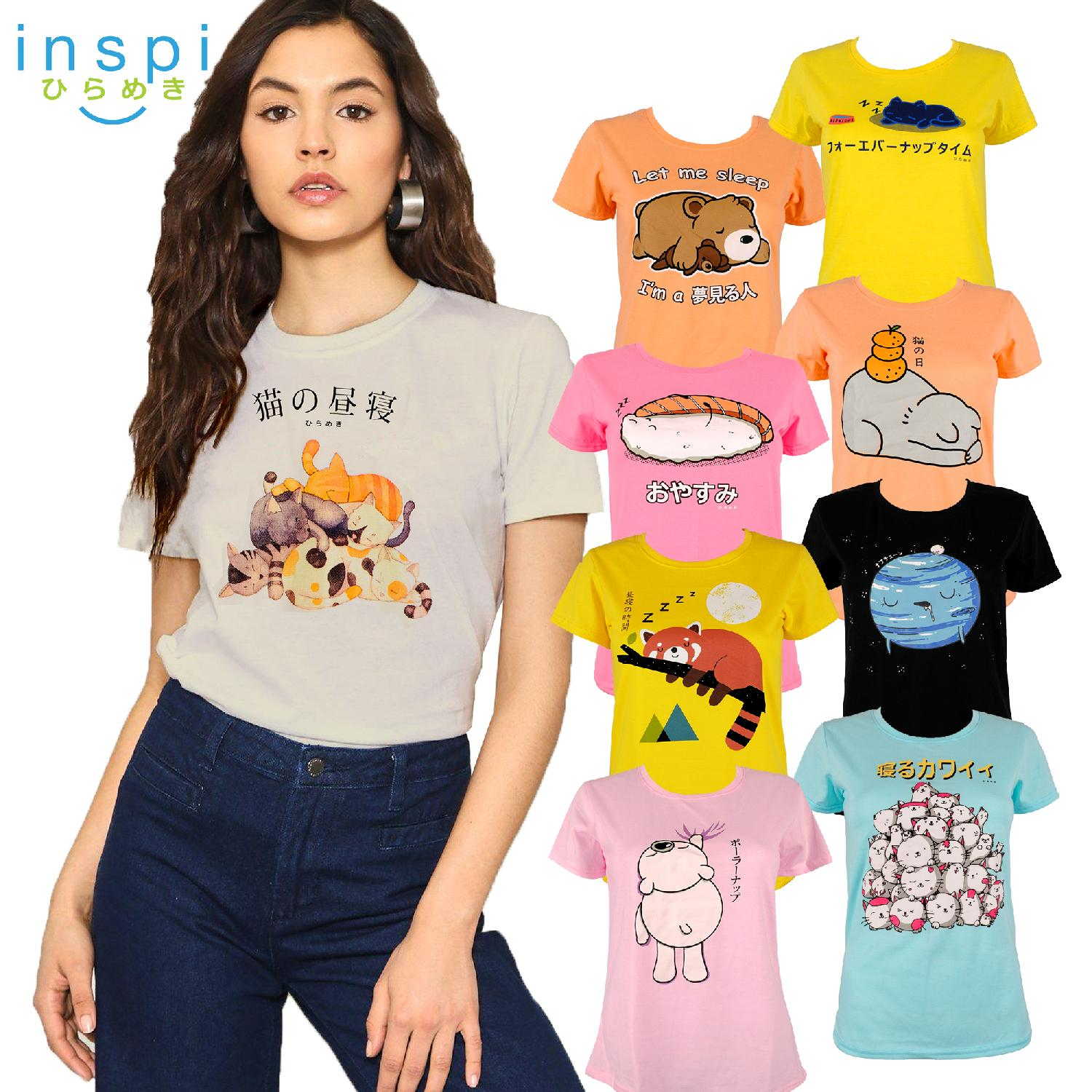 0f69a73f INSPI Tees Ladies Nap Collection tshirt printed graphic tee Ladies t shirt  shirts women tshirts for
