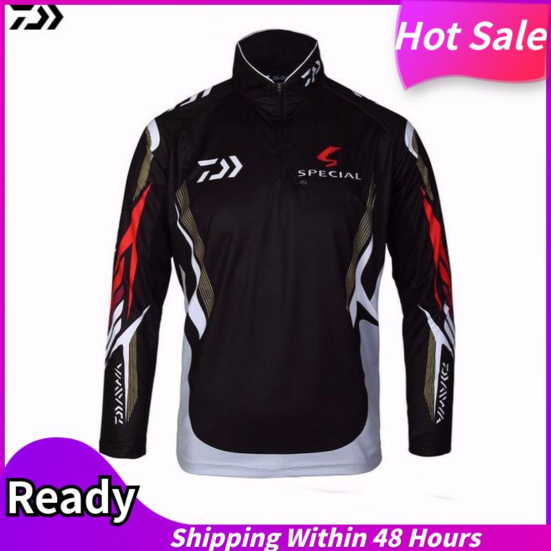 Fishing Clothing Vests Quick-Drying Anti-Uv Sun Fishing Shirt Sports Clothes Long Sleeve (white) Ss-F015 By Tristaxu.