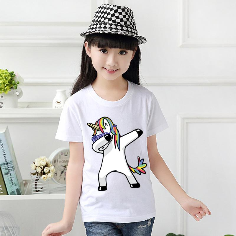 4fddbec9 Tshirt for Unisex kids Swag Unicorn t-shirt Boy's T-shirt Girls Cartoon  Pattern